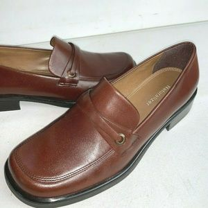 Naturalizer Women Brown Leather Loafer Slip On 8.5